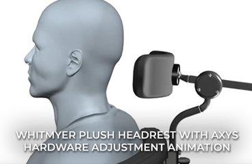 PLUSH Headrest with AXYS Hardware Adjustment Animation