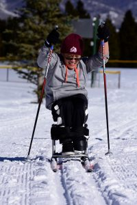 A disabled Cross-Country skier