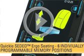 SEDEO Ergo Seating -- 6 Individually Programmable Memory Positions