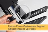 Quickie Power Centermount Legrest Adjustments and Operation