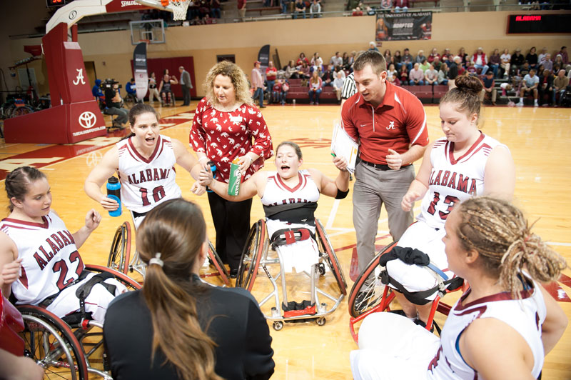 The University of Alabama women's wheelchair basketball team