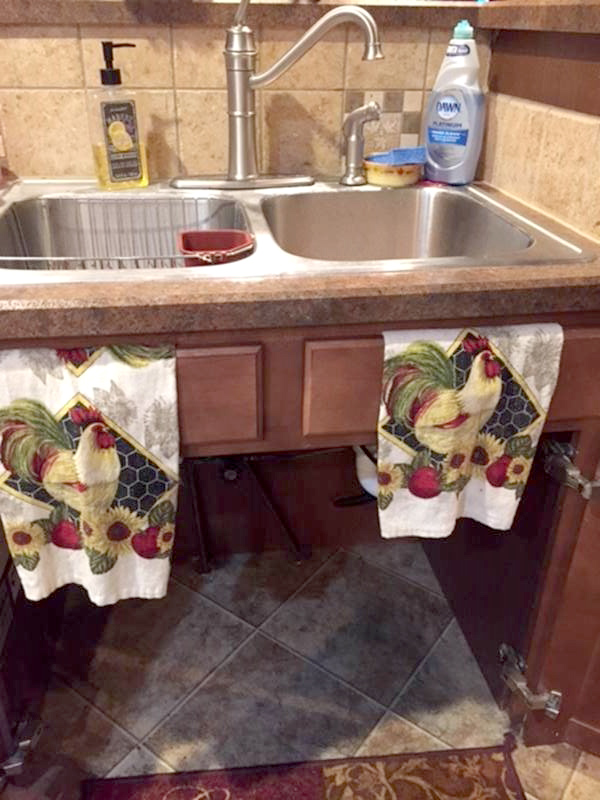 Accessible kitchen sink with cutout
