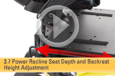 3.7 Power Recline Seat Depth and Backrest Height Adjustment