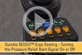 SEDEO Ergo Seating -- Turning the Pressure Relief Alert Signal On or Off