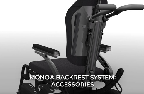 MONO Backrest System - Accommodates Vent Trays, Accessory Hooks, and a Dynamic Suspension System