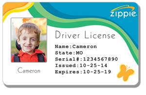Zippie Drivers License Example