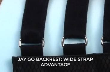 JAY GO Backrest: Wide Strap Advantage