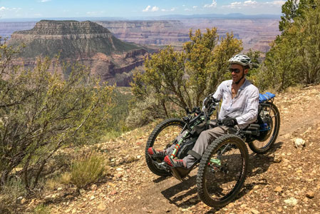 Exploring the Grand Canyon by Handbike