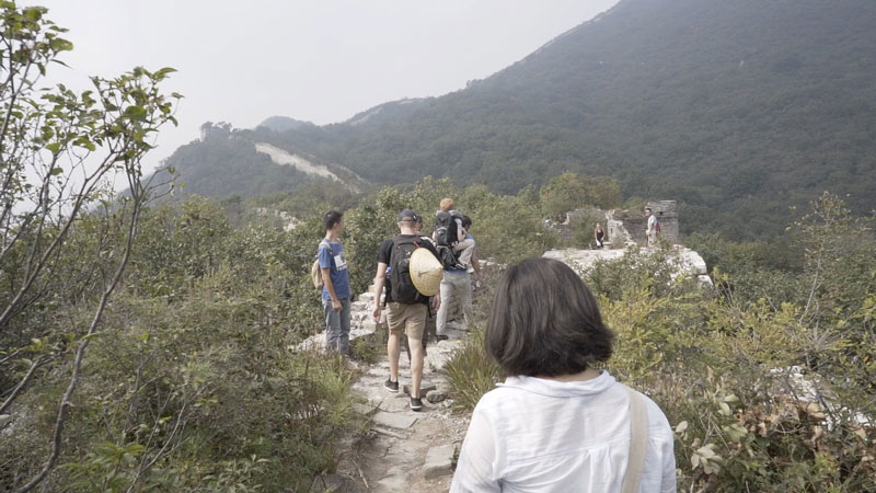 Hiking along the Great Wall of China