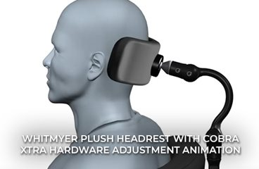 PLUSH Headrest with COBRA XTRA Hardware Adjustment Animation
