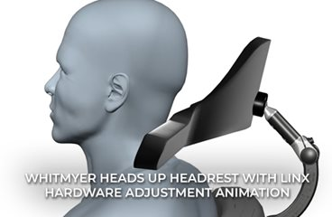 HEADS UP Headrest with LINX Hardware Adjustment Animation