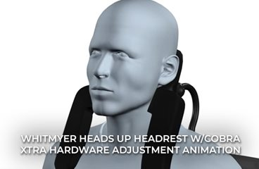 HEADS UP Headrest with COBRA XTRA Hardware Adjustment Animation