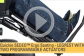 SEDEO Ergo Seating -- Legrest with Two Programmable Actuators