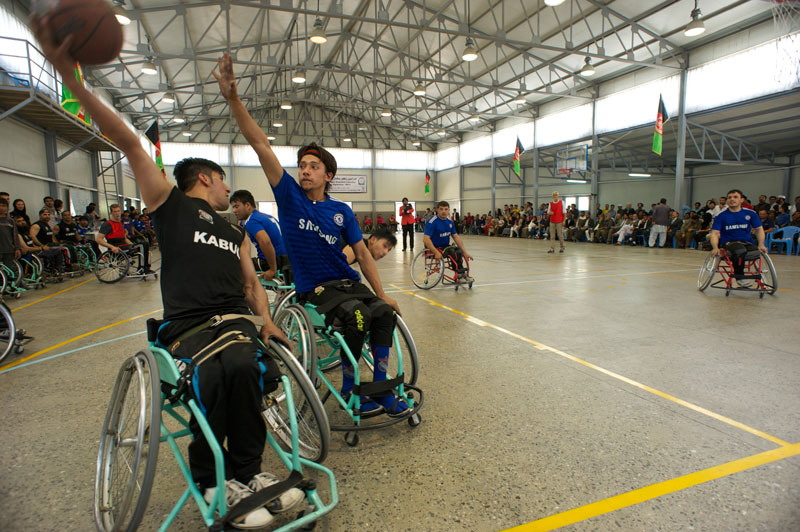 Wheelchair basketball being played in Afghanistan