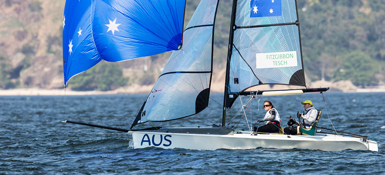 Australian sailing team competing