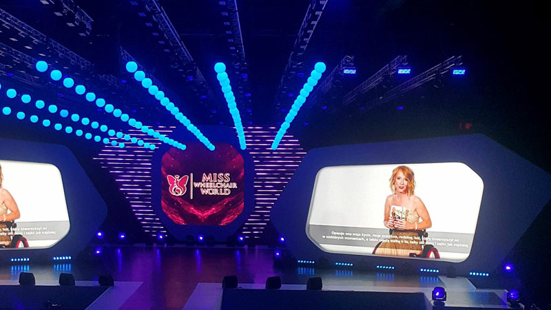 The stage of Miss Wheelchair World 2017