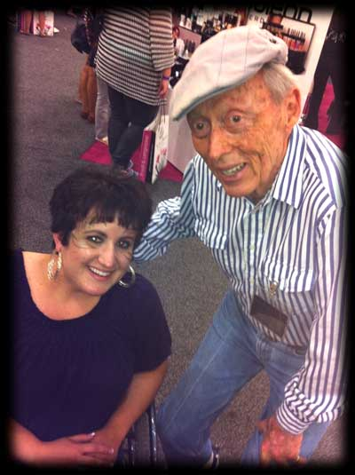 Evelyna with Dick Smith, the godfather of makeup FX