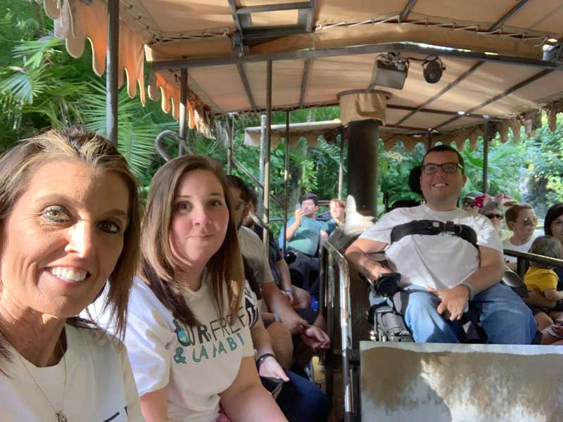 Riding on the Jungle Cruise at Disney World