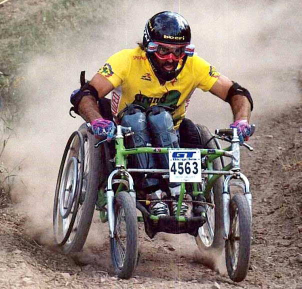 Matt off-road wheelchair racing