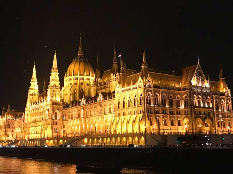 Hungarian Parliament Building from the Danube river