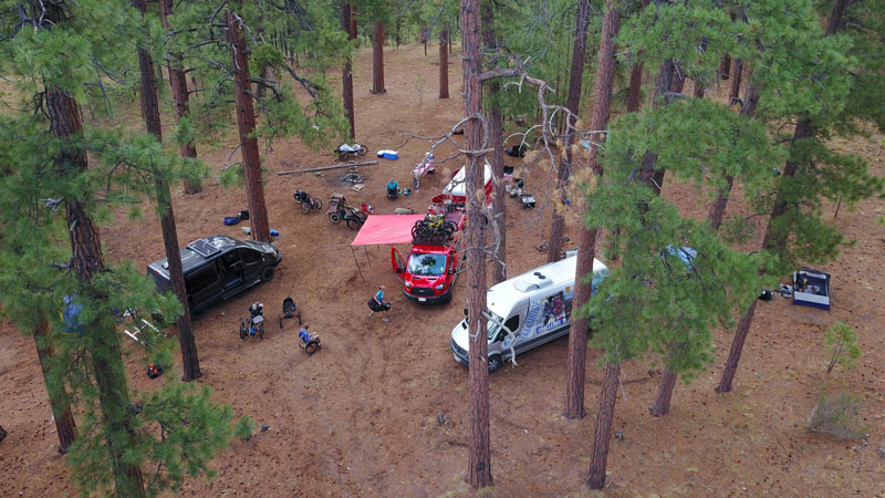 The group's campsite