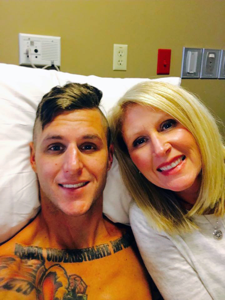 Josh and Karen in the hospital