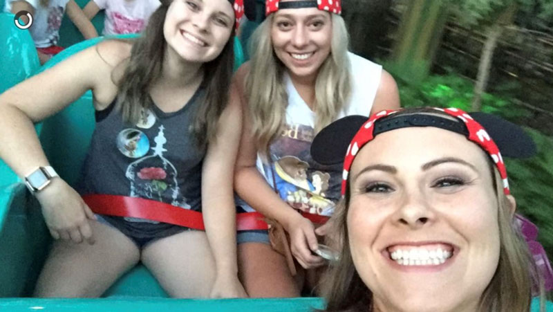 Stephanie with friends at Disneyland