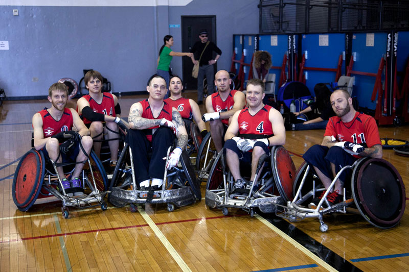 Kirk and his wheelchair rugby team
