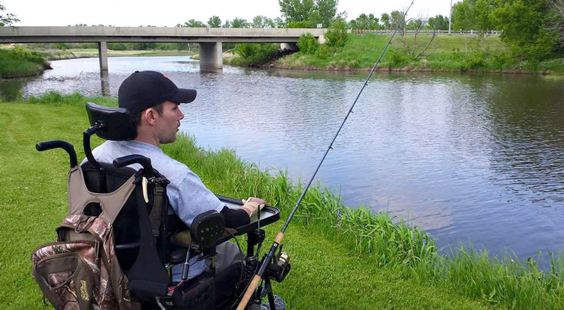 Fishing the Maple River near Enderlin for anything that swims with my electric reel attached to chair.