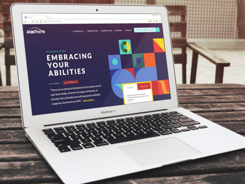 AbleThrive website