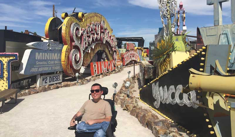 Cory Lee at The Neon Museum