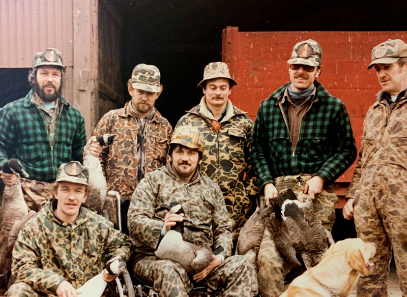 Norm with his hunting buddies