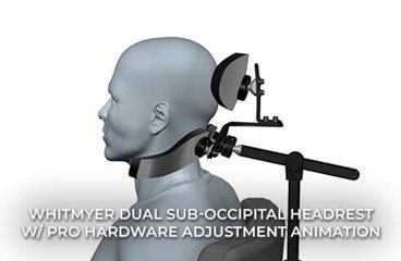 Dual Sub-occipital Headrest with PRO Hardware Adjustment Animation