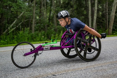 Competing in the 2018 International Wheelchair & Amputee Sports Youth World Championships
