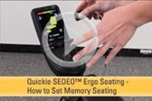 SEDEO Ergo Seating -- How to Set Memory Seating