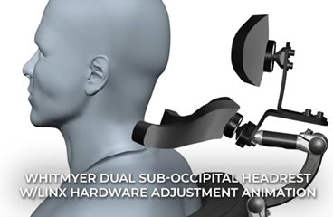 Dual Sub-occipital Headrest with LINX Hardware Adjustment Animation