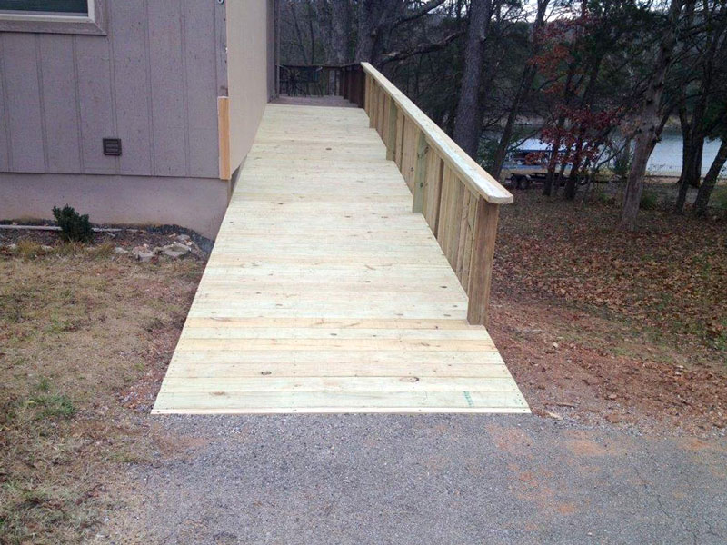 Bob's lake house wheelchair ramp