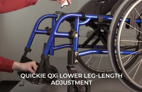 Quickie QXi Lower Leg-Length Adjustment