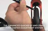 The Enhanced Quickie Q7 and Zippie Zone Caster Adjustment System