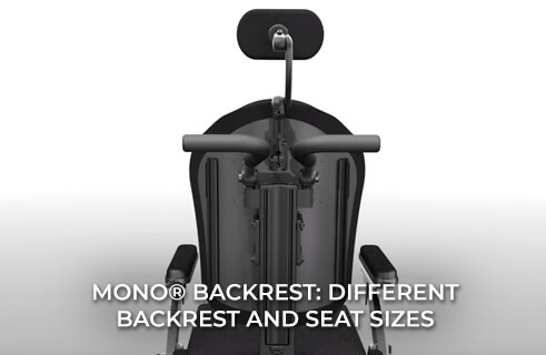 MONO Backrest System - Easily Accommodates Different Backrest and Seat Sizes