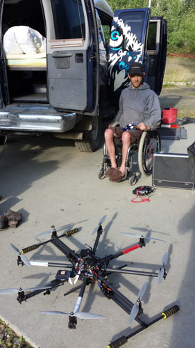 Kirk with his drone equipment