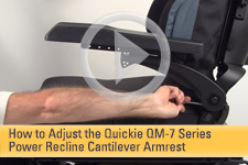 How to Adjust the Quickie QM-7 Series Power Recline Cantilever Armrest