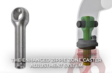 The Enhanced Zippie Zone and Quickie Q7 Caster Adjustment System