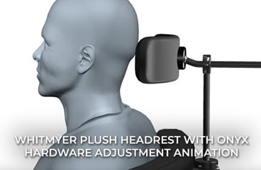 PLUSH Headrest with ONYX Hardware Adjustment Animation