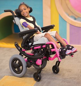 Zippie IRIS pediatric tilt-in-space wheelchair
