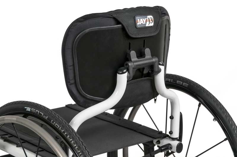 The Freestyle Back System on a Quickie 7R wheelchair
